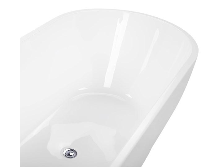 Wanna wolnostojąca biała akrylowa owalna nowoczesna Wolnostojące Kolor Biały