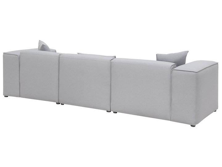 Narożnik lewostronny jasnoszary 3-osobowy 3 poduszki dekoracyjne styl nowoczesny Kategoria Narożniki