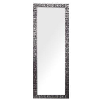 Lustro ścienne wiszące srebrne 50 x 130 cm dekoracyjne