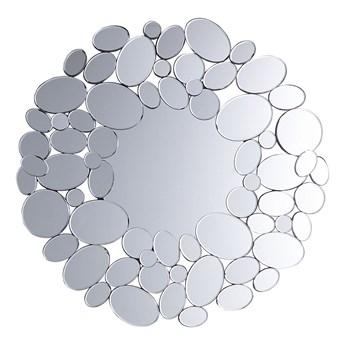 Lustro ścienne wiszące srebrne nowoczesne salon sypialnia