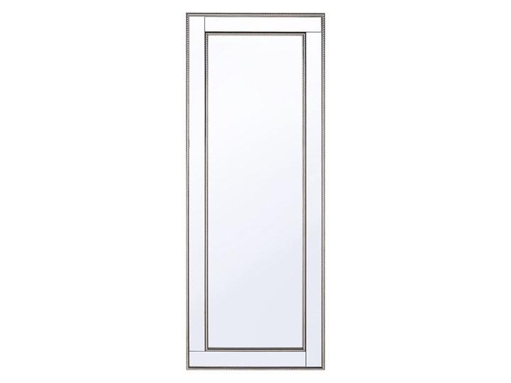 Lustro ścienne wiszące srebrno-złote 50 x 130 cm styl minimalistyczny Art Deco Kolor Srebrny Prostokątne Lustro z ramą Kolor Złoty