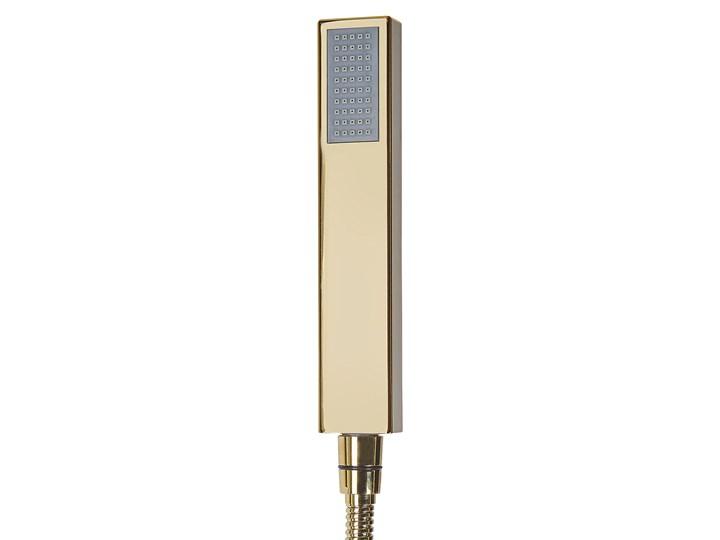 Bateria wannowa złota wolnostojąca 120 cm nowoczesna Bateria prysznicowa Bateria stojąca Wykończenie Stal