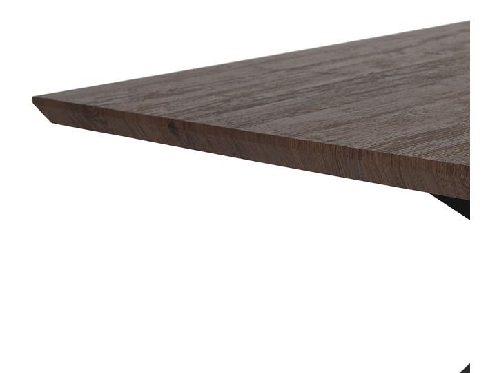 Stół obiadowy ciemny drewniany blat metalowe czarne nóżki prostokątny 140 x 80 cm nowoczesny wygląd Płyta MDF Drewno Długość 140 cm  Kolor Czarny