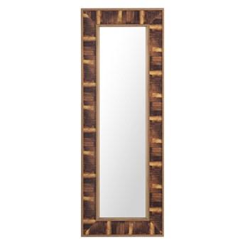 Lustro ścienne wiszące brązowe 50 x 130 cm ozdobne
