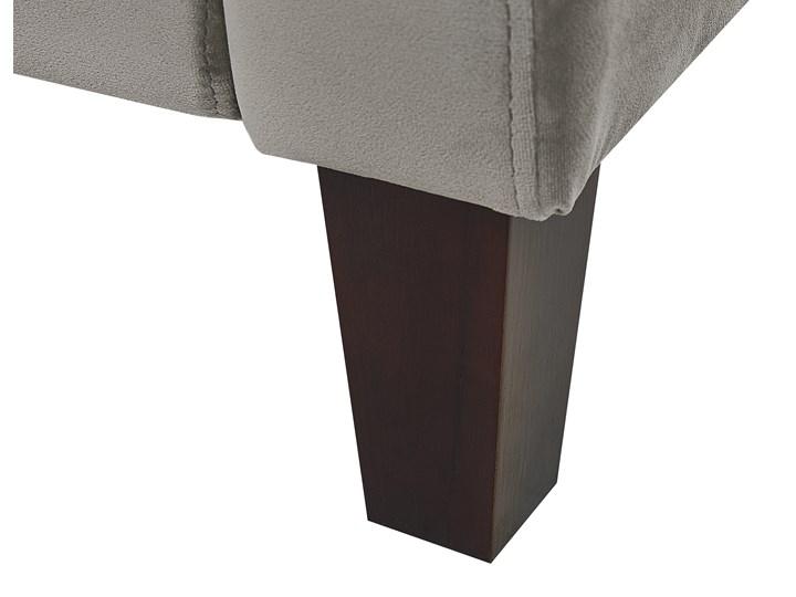 Rozkładany fotel telewizyjny szary tapicerownany welurem rozkładane oparcie i podnóżek retro design Tkanina Fotel inspirowany Fotel rozkładany Styl Klasyczny Tworzywo sztuczne Drewno Styl Vintage