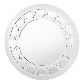 Lustro ścienne srebrna rama ø 80 cm okrągłe styl nowczesny glam