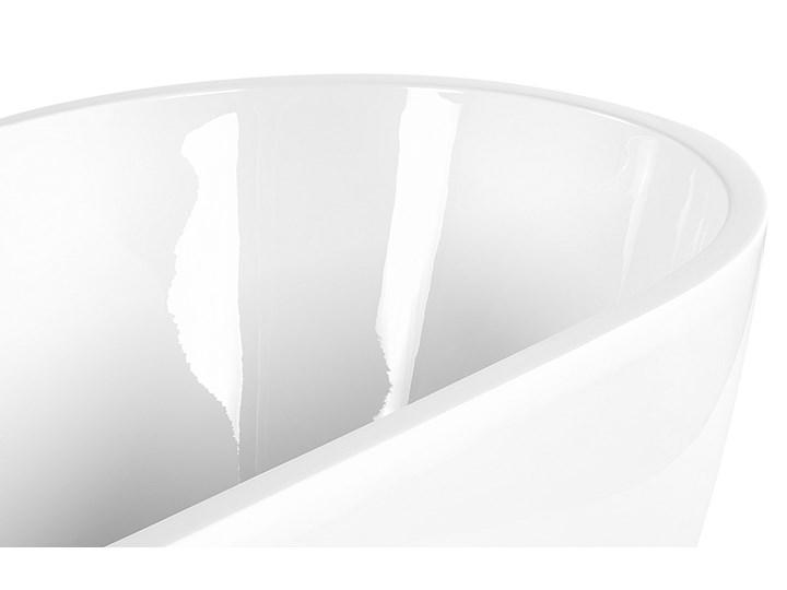 Wanna wolnostojąca biała akrylowa 170 x 80 cm owalna zaokrąglona nowoczesny design Wolnostojące Kolor Biały Kategoria Wanny