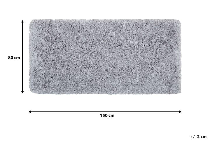 Dywan shaggy szary 80 x 150 cm puszysty włochacz Dywany Bawełna Poliester Prostokątny 80x150 cm Pomieszczenie Sypialnia