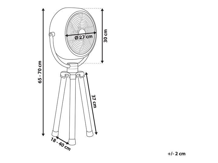 Wentylator biurkowy miedziany metalowy materiał syntetyczny regulacja wysokości nowoczesny design Stojący Kategoria Wentylatory