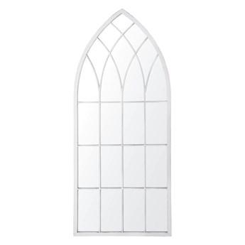 Lustro ścienne wiszące szare 50 x 115 cm ozdobne kształt okna