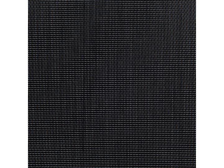 Zestaw mebli ogrodowych jadalniany czarny palony stół granit/bazalt 180 x 90 cm 6 krzeseł tekstylnych sztaplowanych Tworzywo sztuczne Stoły z krzesłami Stal Kategoria Zestawy mebli ogrodowych