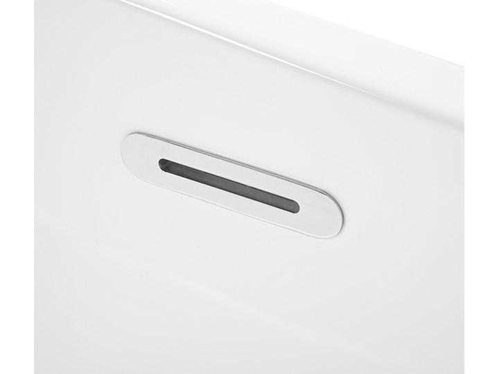 Wanna wolnostojąca biała akrylowa 170 x 78 cm system przelewowy prostokątna glamour Stal Długość 170 cm Kolor Biały Symetryczne Wolnostojące Kategoria Wanny