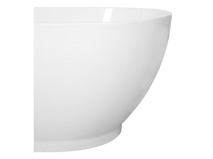 Wanna wolnostojąca biała akrylowa 167 x 82 cm owalna Długość 173 cm Kolor Biały Wolnostojące Kategoria Wanny