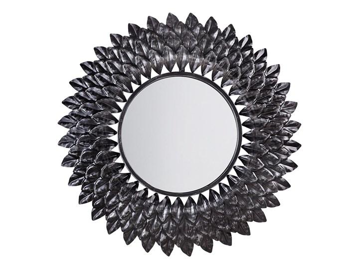 Lustro ścienne wiszące srebrne 70 cm sypialnia salon Okrągłe Lustro z ramą Pomieszczenie Łazienka