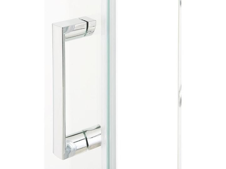 Kabina prysznicowa srebrna szkło hartowane aluminum pojedyncze drzwi 70 x 70 x 185 cm nowoczesny design Kwadratowa Kategoria Kabiny prysznicowe