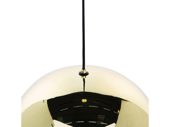Lampa sufitowa złota metalowa 124 cm ażurowa czarna osłona wysoki połysk glamour Lampa z kloszem Lampa druciana Kolor Złoty