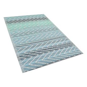 Dywan zewnętrzny zielony polypropylen z recyklingu 120 x 180 cm wzory balkon taras Beliani