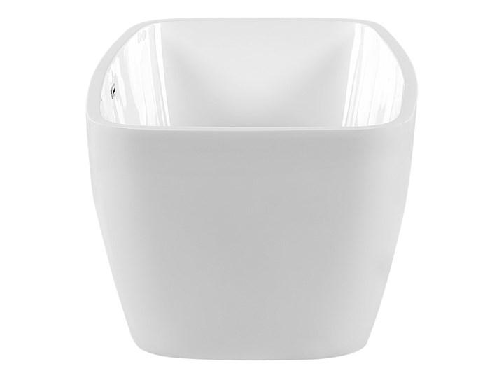 Wanna wolnostojąca biała akrylowa 170 x 78 cm nowoczesny wygląd Długość 170 cm Symetryczne Owalna Wolnostojące Kolor Biały