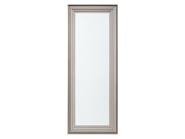 Lustro ścienne wiszące srebrne 50 x 130 cm łazienka sypialnia toaletka Kolor Srebrny Prostokątne Lustro z ramą Kategoria Lustra