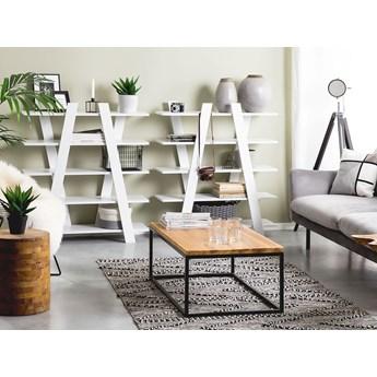 Regał szafka na książki biały drewniany wolnostojący otwarte półki 100 x 30 x 116 cm Skandynawski design