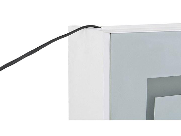 Szafka wisząca z lustrem i oświetleniem LED biała 40 x 60 cm nowoczesna Szkło Szerokość 40 cm Szafki Głębokość 12 cm Płyta MDF Kolor Biały Wiszące Kategoria Szafki stojące