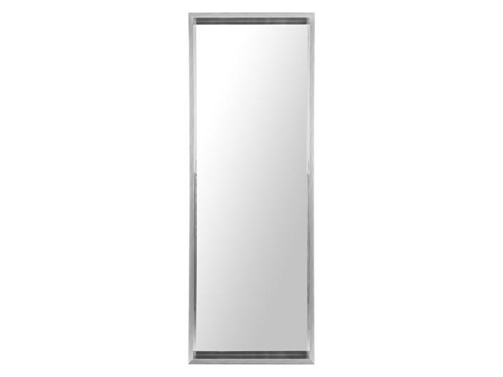 Lustro ścienne wiszące szare 50 x 140 cm Prostokątne Lustro z ramą Kolor Srebrny