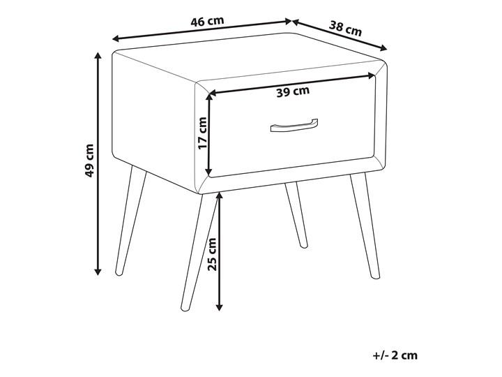 Szafka nocna żółta tapicerowana welurem 1 szafka stolik nocny minimalistyczny design Płyta MDF Tworzywo sztuczne Drewno Metal Pomieszczenie Sypialnia