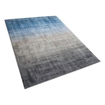 Dywan ombre niebiesko-szary 160 x 230 cm wiskozowy ręcznie tkany salon sypialnia