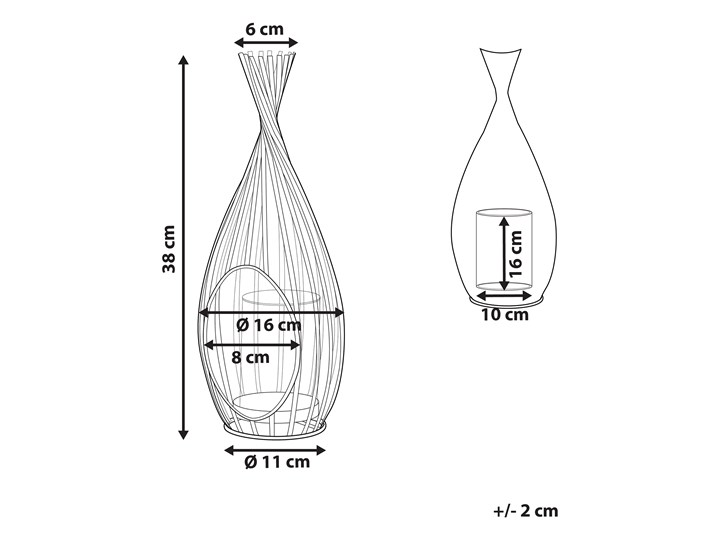 Lampion metalowy ażurowy 38 cm świecznik szklany dekoracja na stół industrialna Szkło Kolor Czarny Kategoria Świeczniki i świece