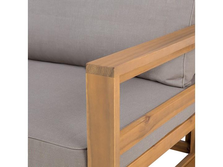 Zestaw mebli ogrodowych jasne drewno akacjowe narożnik szare poduszki stolik kawowy Zestawy modułowe Kategoria Zestawy mebli ogrodowych Zestawy kawowe Zestawy wypoczynkowe Styl Nowoczesny