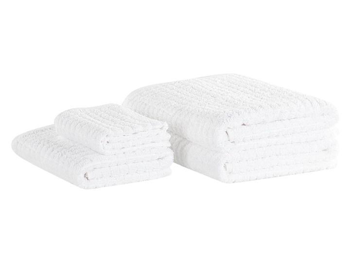 Komplet 4 ręczników biały bawełna zero twist ręczniki dla gości do rąk kąpielowy i mata łazienkowa Ręcznik plażowy Komplet ręczników Ręcznik do rąk Ręcznik kąpielowy Ręcznik z kapturkiem