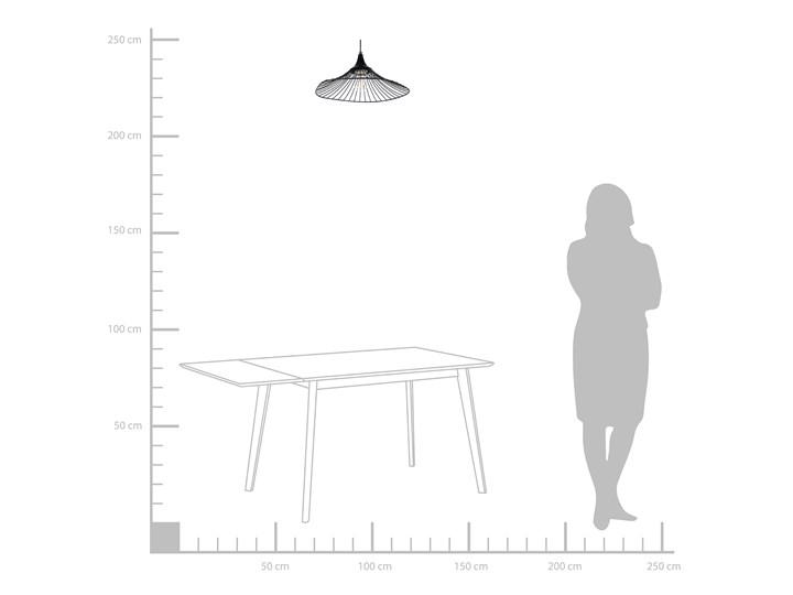 Lampa sufitowa wisząca czarna metalowy klosz industrialny design sypialnia kuchnia Lampa druciana Lampa z kloszem Kategoria Lampy wiszące