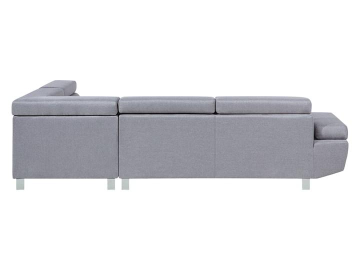 Narożnik lewostronny jasnoszary tapicerowany 5 osobowa sofa z regulowanymi zagłówkami Strona Lewostronne Szerokość 261 cm Kategoria Narożniki