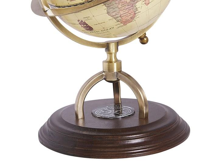 Figurka dekoracyjna globus w stylu vintage 16 cm Metal Globusy Kolor Beżowy