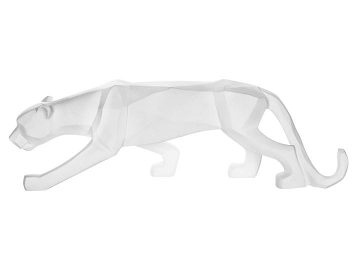 Figurka dekoracyjna matowy biały w kształcie pantery 18 cm nowoczesny design Zwierzęta Kategoria Figury i rzeźby