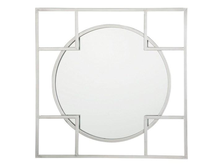 Lustro ścienne wiszące srebrne 71 x 71 cm nowoczesne łazienka salon