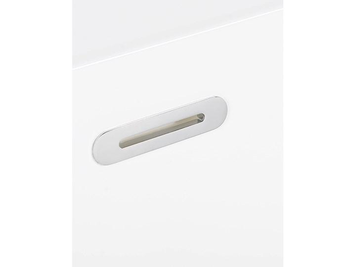 Wanna biała akrylowa 170 x 80 cm system przelewowy prostokątna minimalistyczny design Kolor Biały Symetryczne Kategoria Wanny