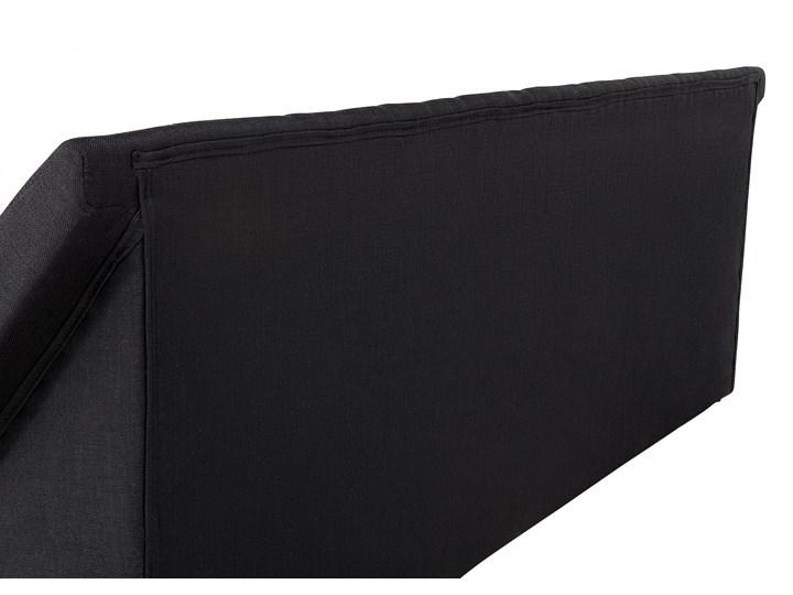 Łóżko ze stelażem tapicerowane tkaniną czarne 180 x 200 cm nowoczesny design falowane Kolor Czarny Łóżko tapicerowane Kategoria Łóżka do sypialni
