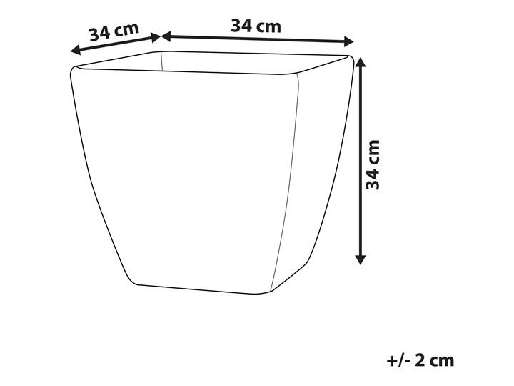 Doniczka ciemnoszara kwadratowa 34 x 34 cm do ogrodu Kwadratowy Kamień Donica ogrodowa Kategoria Donice ogrodowe