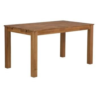 Stół do jadalni jasne drewno dębowe 150/240 x 85 cm rozkładany 4 miejsca skandynawski