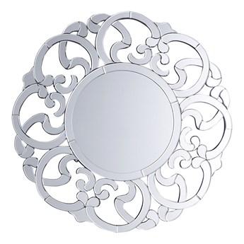 Lustro ścienne wiszące srebrne okrągłe 70 cm ozdobne
