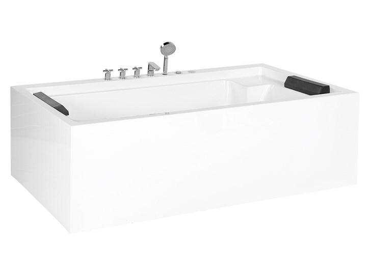 Wanna wolnostojąca biała akrylowa 180 x 110 cm dwuosobowa nowoczesna Kolor Biały Wolnostojące Kategoria Wanny
