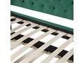 Łóżko wysuwane zielone welurowe ze stelażem 90 x 200 cm dziecięce glamour guziki gwoździe tapicerskie Łóżko tapicerowane Kolor Zielony