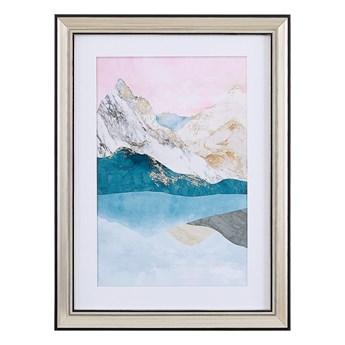 Obraz w ramie wielkolorowy wydruk na papierze 30 x 40 cm abstrakcja dekoracja ścienna
