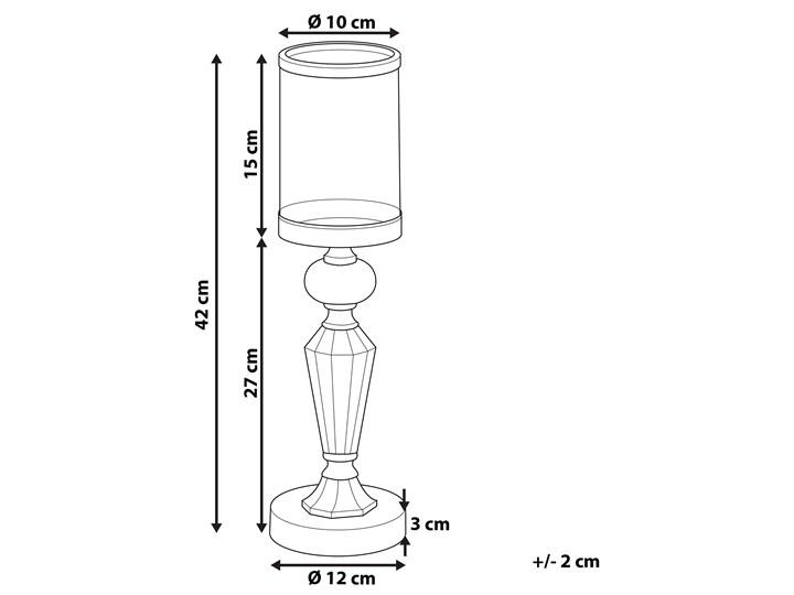 Świecznik srebrny metalowy 41 cm Szkło Kategoria Świeczniki i świece