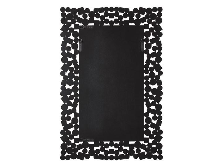 Lustro ścienne srebrne 60 x 90 cm prostokątne wiszące dekoracyjna rama styl glamour Lustro z ramą Pomieszczenie Sypialnia