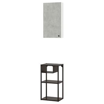 IKEA ENHET Kombinacja przechow ścienna, antracyt/imitacja betonu, 40x30x150 cm