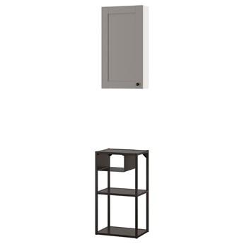 IKEA ENHET Kombinacja przechow ścienna, biały/szary rama, 40x30x150 cm