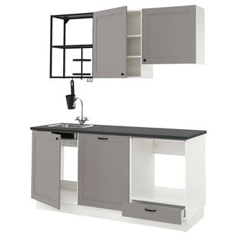 IKEA ENHET Kuchnia, antracyt/szary rama, 183x63.5x222 cm