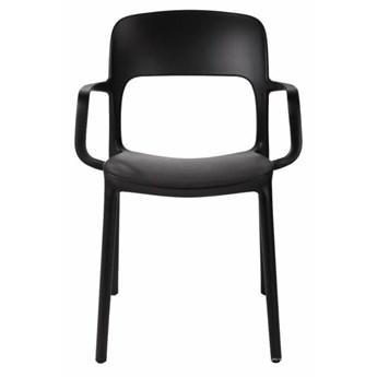 SELSEY Krzesło z podłokietnikami Ferjes czarne